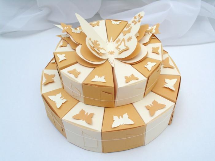 diy projet boite dragées gâteau