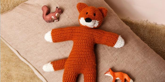 doudou renard débuter au crochet amigurumi modèle
