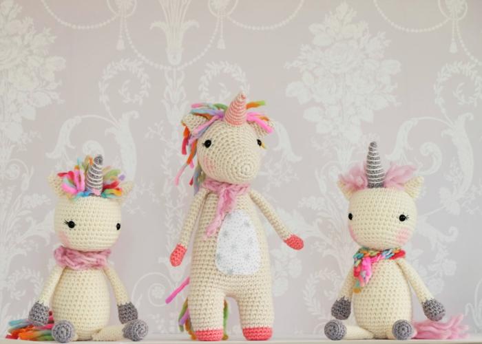 famille licornes débuter au crochet amigurumi modèle