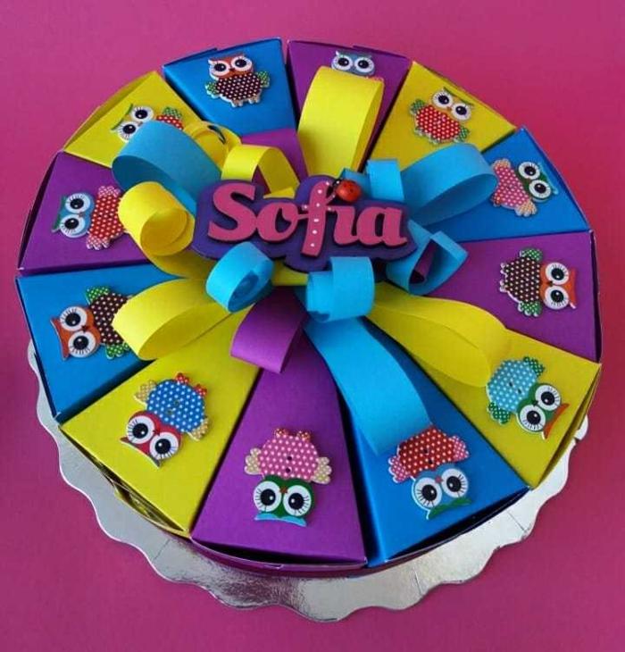 gâteau en carton idée boite dragées