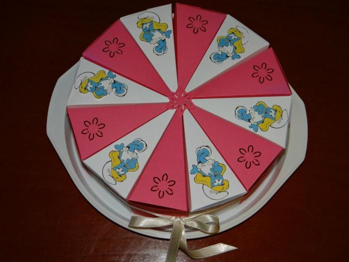 gâteau papier idée boite dragées