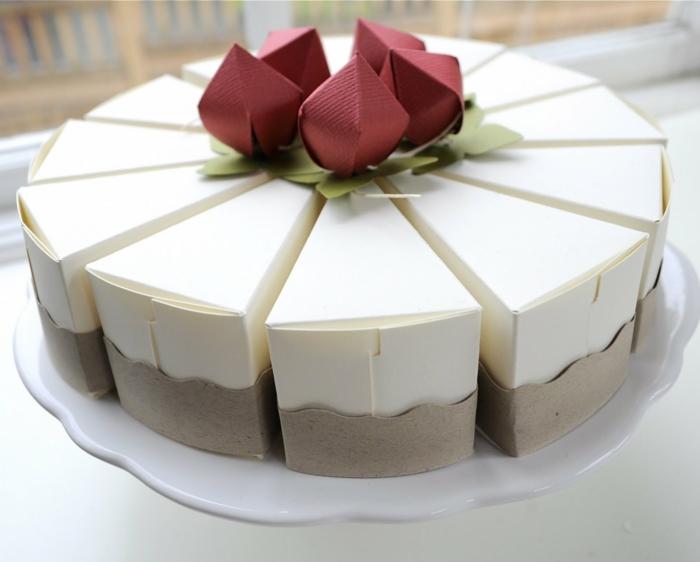 idée boite dragées en forme de gâteau