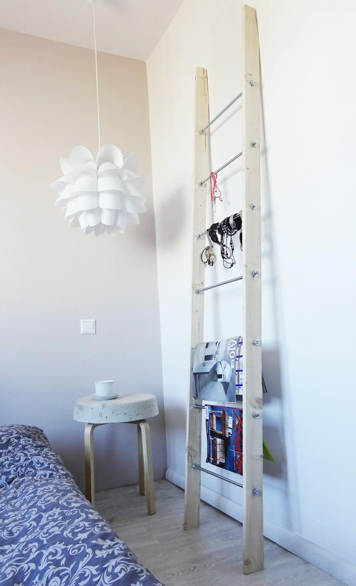 idée déco chambre échelle bois déco