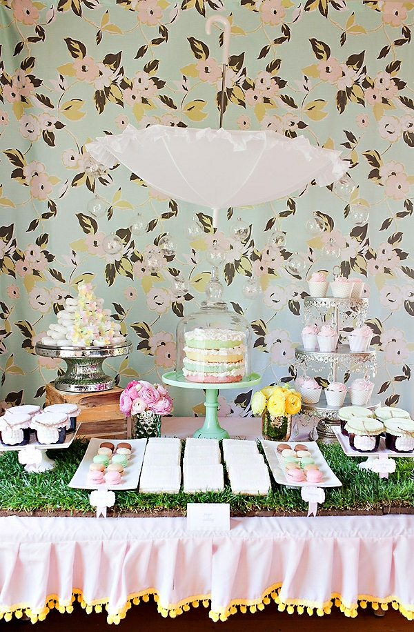 idée décoration baby shower printemps