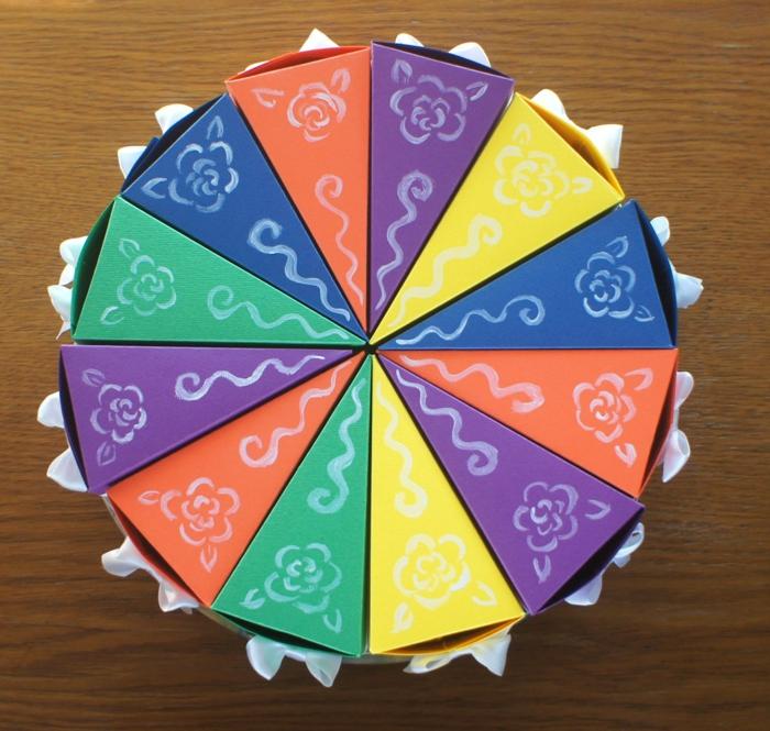 idée de boite dragées forme de gâteau