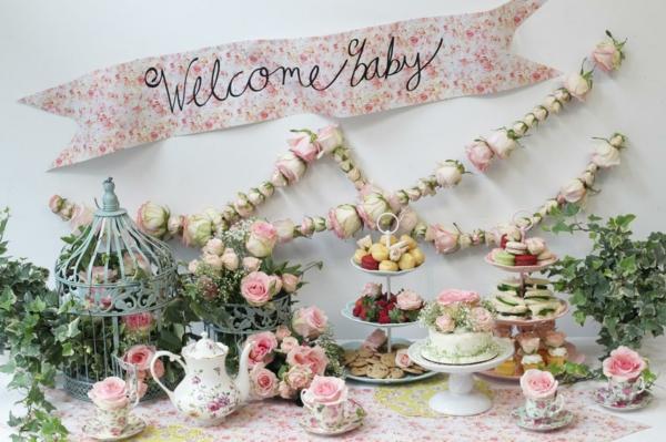 idée de décoration baby shower style vintage