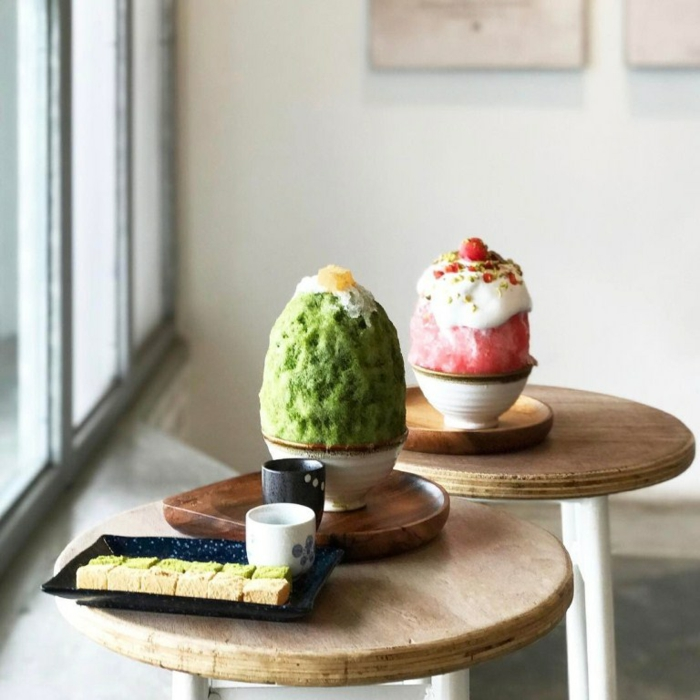 idée de dessert d'été kakigori