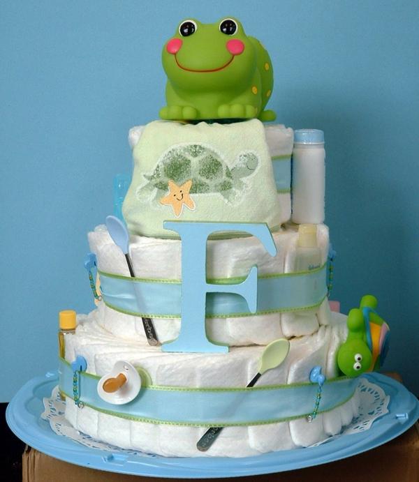 idée de gâteau décoration baby shower garçon