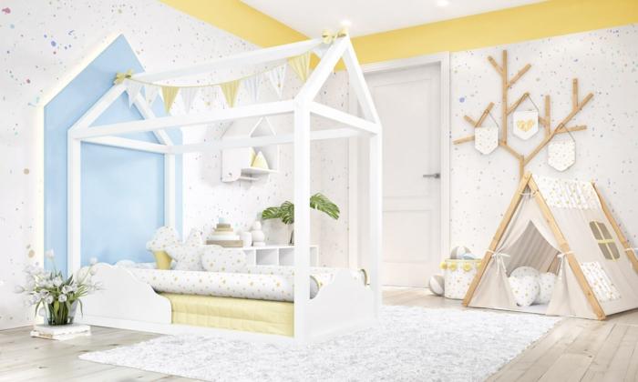 idée de modèle lit cabane montessori