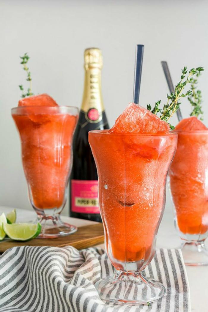 idée de recette slushie à la champagne