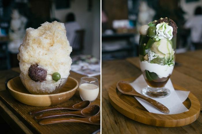 idée dessert kakigori au café