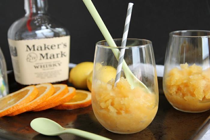 idée pour servir bourbon sluchie
