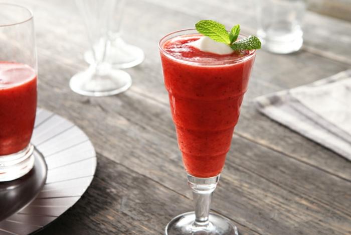 idée recette slushie fraise et coco vin blanc