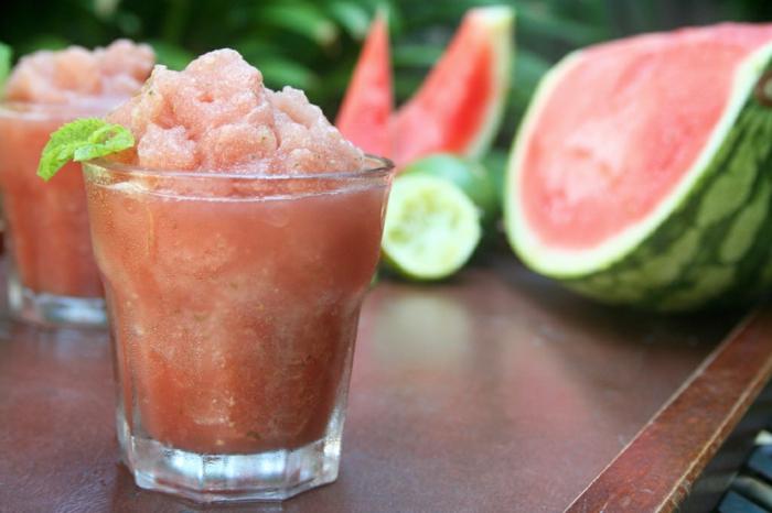 idée recette slushie pastèque et concombre vodka