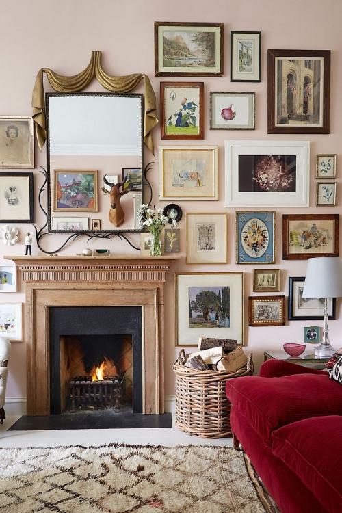 idées de petit salon cheminée en face