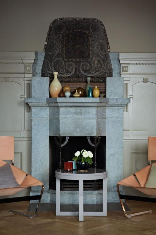 idées de petit salon jolie cheminée
