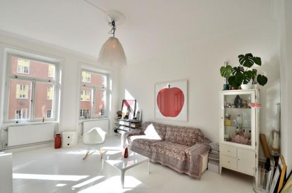 idées pour un salon déco scandinave grand espace épuré