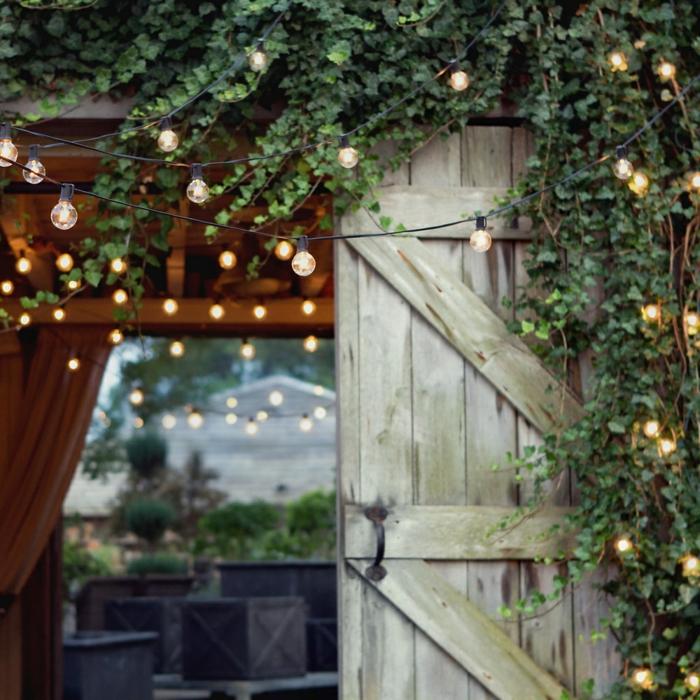 illuminer le jardin avec guirlande guinguette