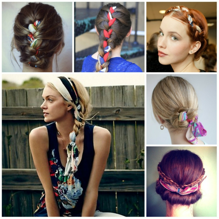 inspirations nouer foulard cheveux