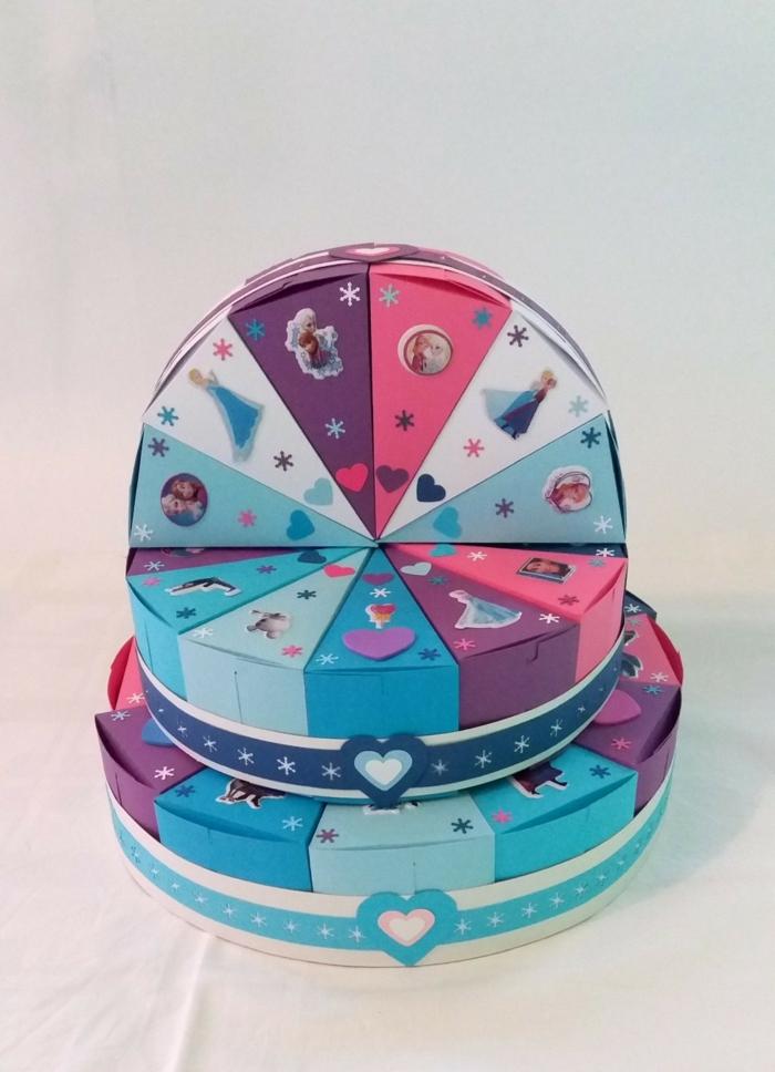 joli gâteau en carton boite dragées