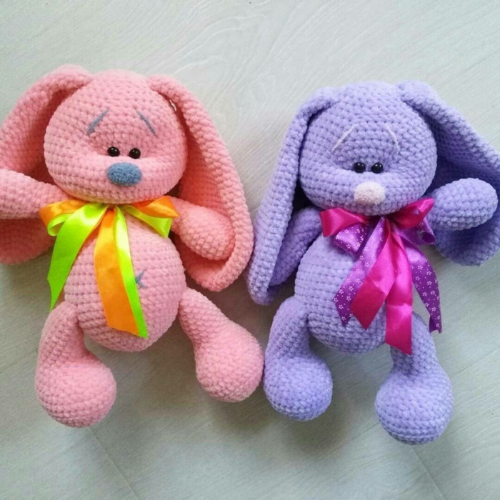 lapins colorés débuter au crochet amigurumi modèle