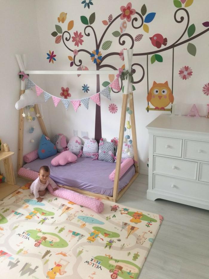 lit cabane montessori chambre bébé
