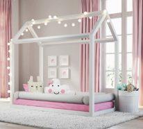 Lit Cabane Montessori Dites Adieu à Lancien Lit à Barreaux - Lit cabane rose