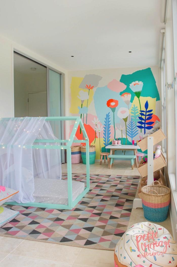 lit cabane montessori chambre fille