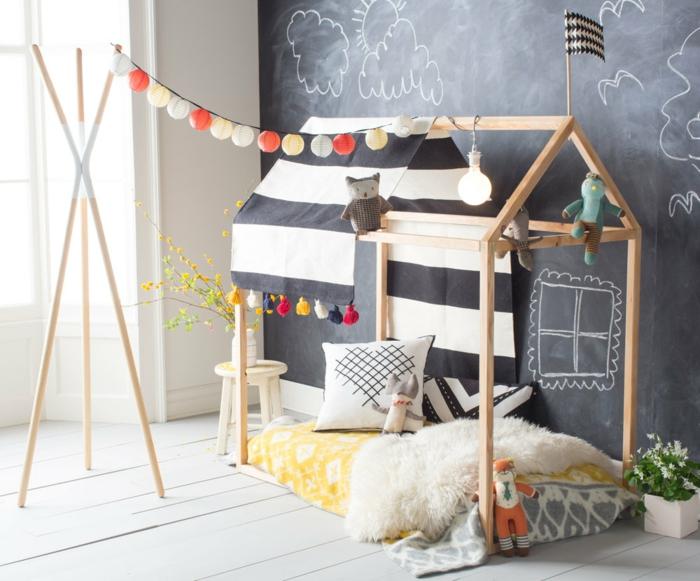 lit cabane montessori décoration