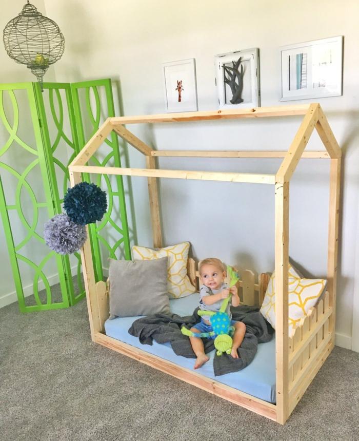 lit cabane montessori petit enfant