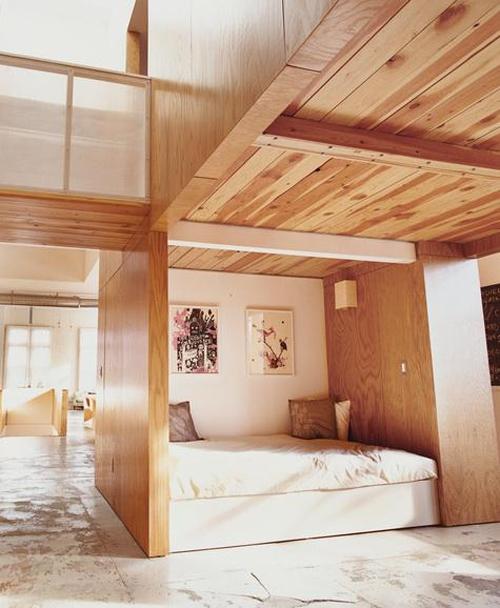 lit pour petit espace conception intéressante en bois