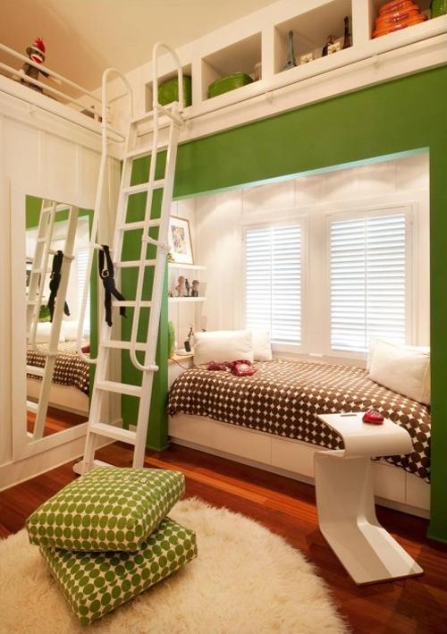 lit pour petit espace lit intégré dans un alcôve