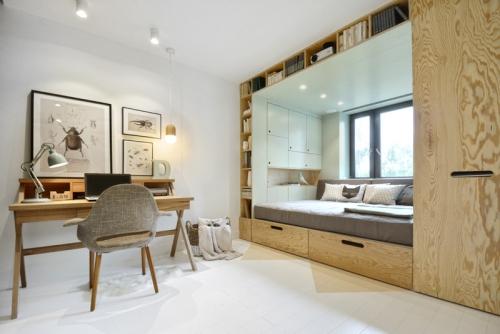 lit pour petit espace lit intégré