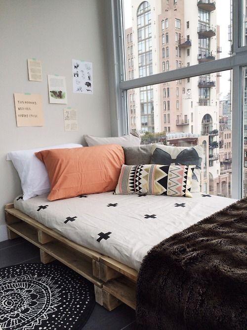 lit pour petit espace lit sur palettes