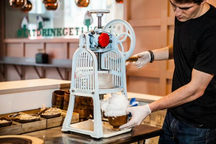 machine à kakigori dessert japonais