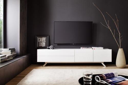 meuble TV ensemble elegant en blanc