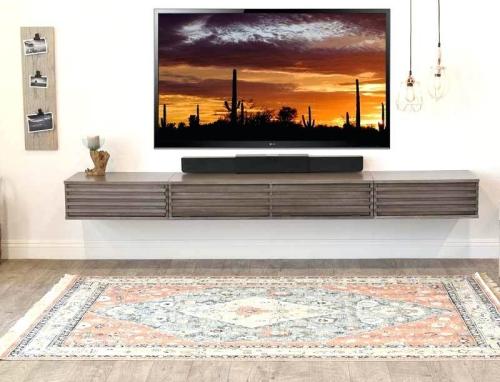 meuble TV joli design accroché