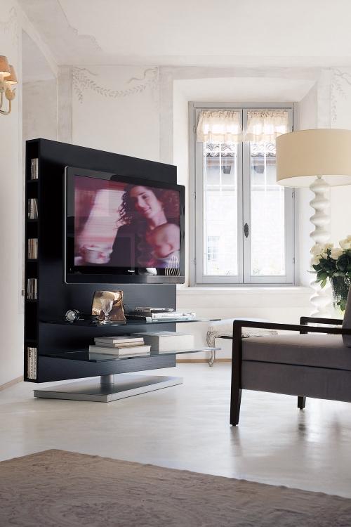 meuble TV joli ensemble en gris