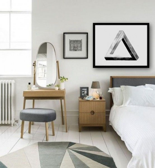 meubles de chambre bel ensemble de meubles en gris et beige