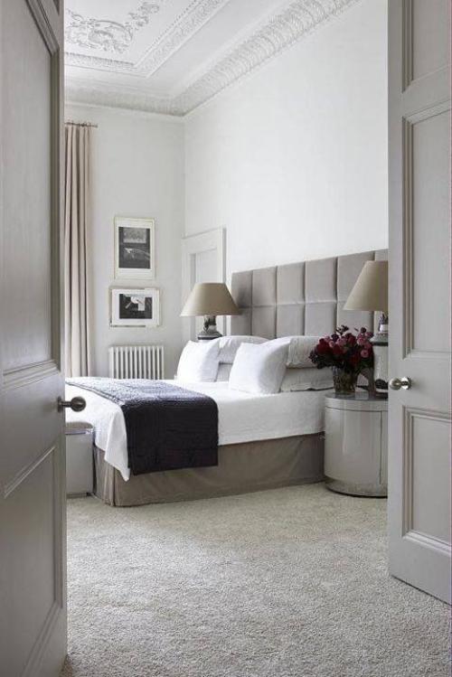 meubles de chambre grand lit en beige