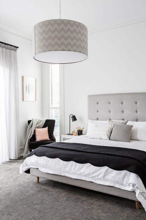 meubles de chambre lit de chambre en gris