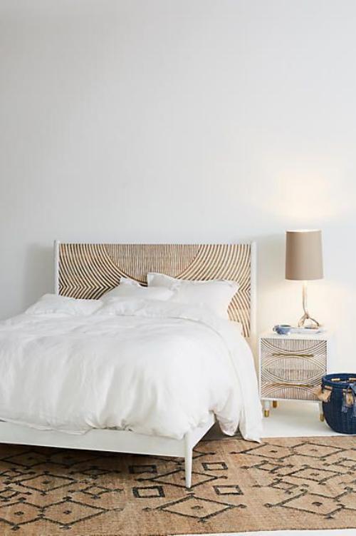 meubles de chambre lit et table de chevet design