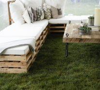 Meubles de jardin en palettes – idées pour le confort à l\'extérieur