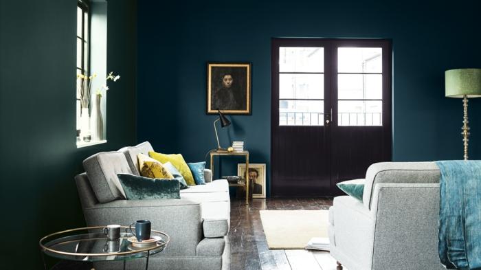 meubles gris quelle couleur associer au bleu pétrole