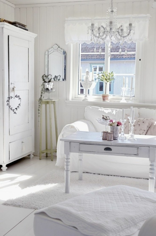 meubles shabby chic blancheur aveuglante