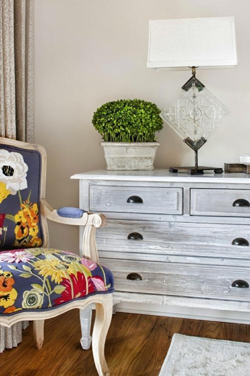 meubles shabby chic clair