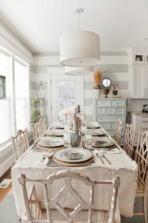 meubles shabby chic salle à manger en tons pastel