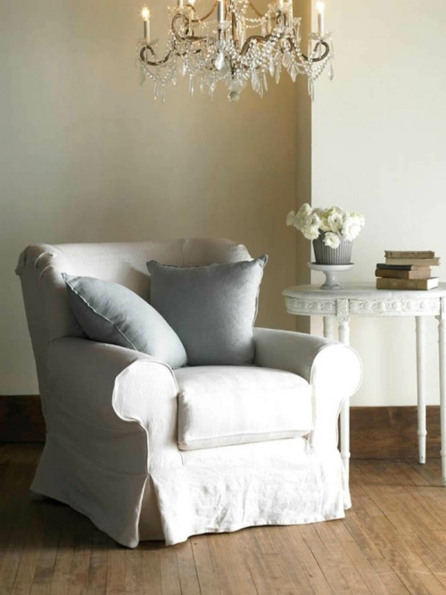 meubles shabby chic vieux fauteuil rembourré