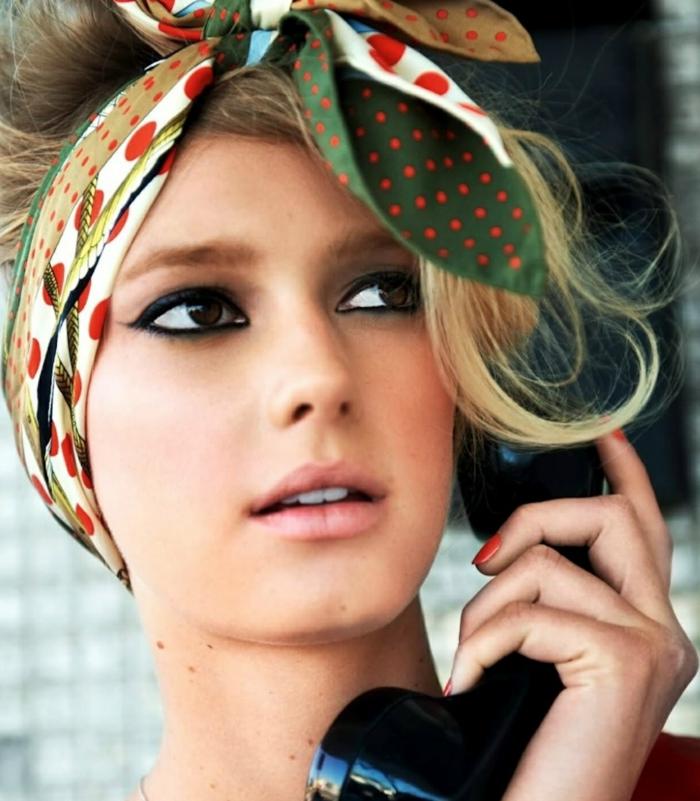mode 2018 nouer foulard cheveux idées