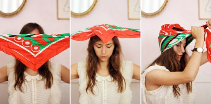 nouer foulard cheveux idée turban